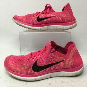 Nike Womens 6 Free 4.0 Flyknit Lace Up Running Sho